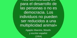 Frase filosófica Agapito Maestre