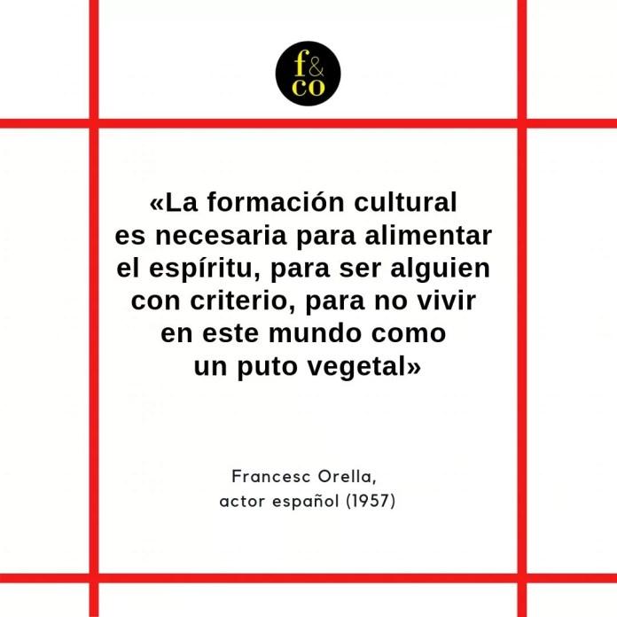 Frase filosófica Francesc Orella