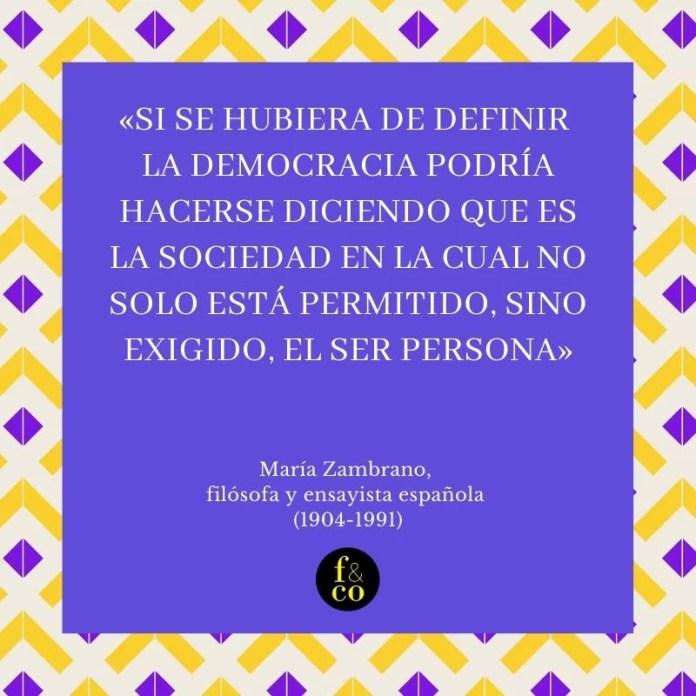 Frase filosófica María Zambrano