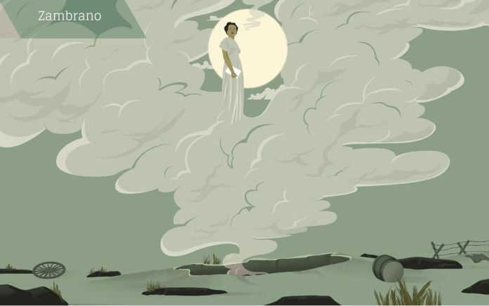 El escritor mexicano Sergio Pitol retrataba así el círculo que rodeaba a María Zambrano: «Cuando llegaba algún grupo de españoles jóvenes, María se crecía. Les hablaba de su juventud republicana, de su maestro Ortega, de los escritores de su generación, de la guerra civil, de la derrota y del exilio. Se convertía entonces en un personaje trágico. Envuelta en el humo de su cigarrillo, mirando hacia lo alto, escanciaba las palabras, como si un espíritu superior visitara su cuerpo, se posesionase de ella y utilizara su boca para expresarse». © Ana Yael