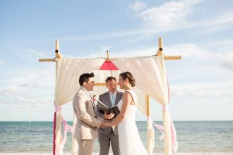 beach ceremony photo with atlantic ocean in the background