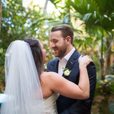 first look photograph at key west wedding ocean key resort