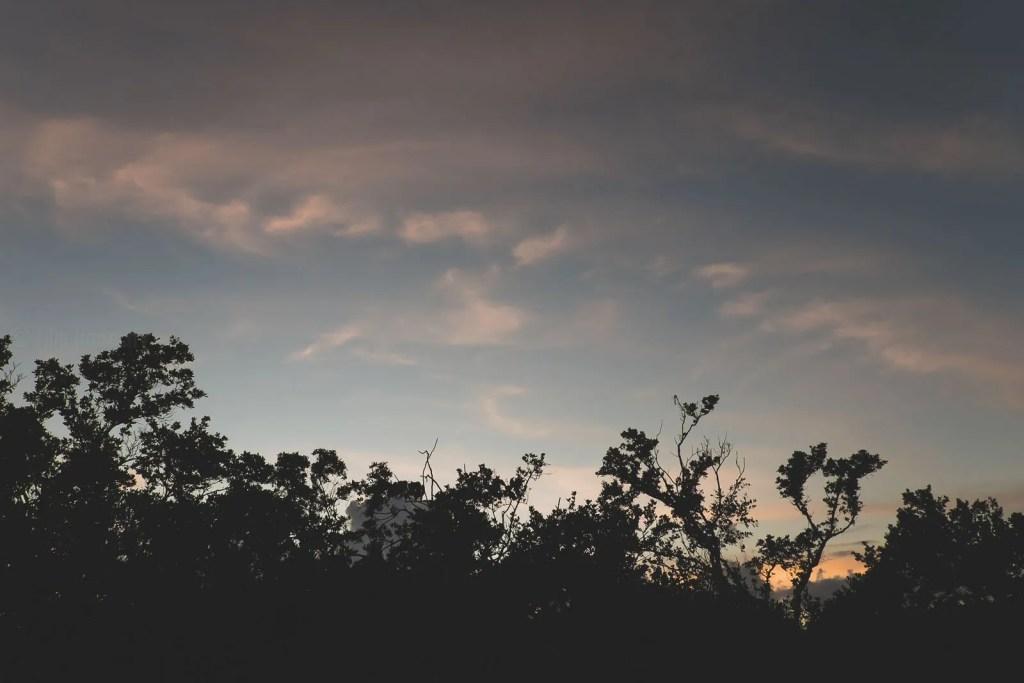 sunset sky in florida keys