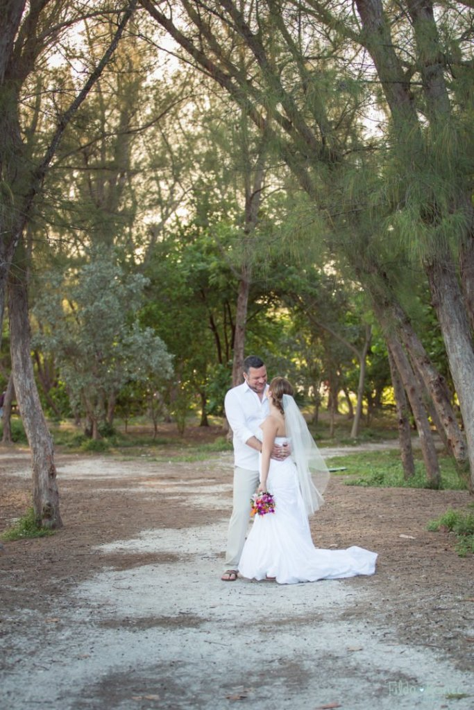 married couple in typical south florida woods