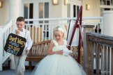 flower girl and ring bearer ready for the lineup