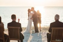 first kiss at the beach ceremony