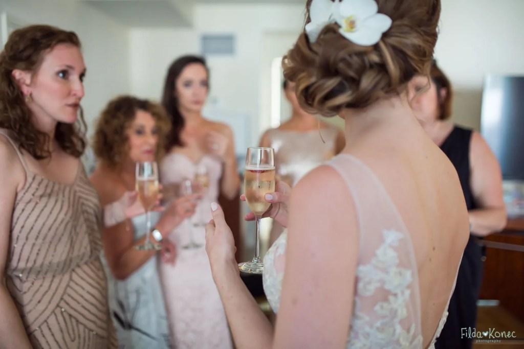 bridesmaids before key west ceremony