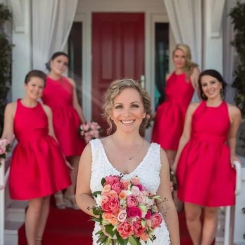 bridal party photo on duval street key west florida