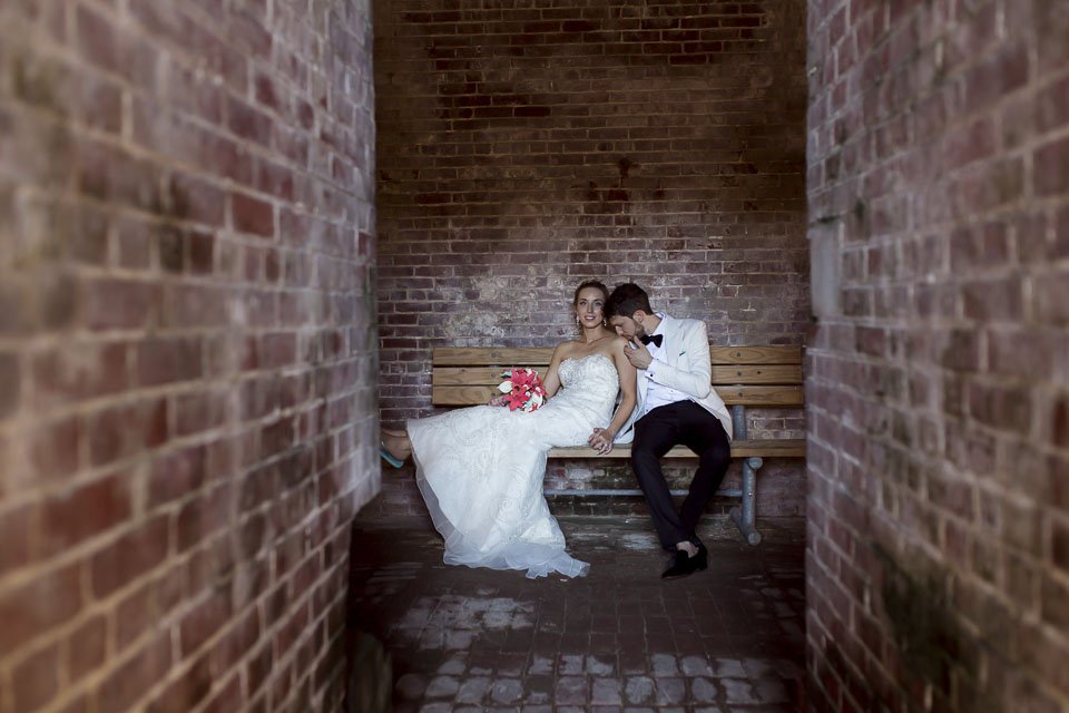couple in fort jefferson wedding photographer