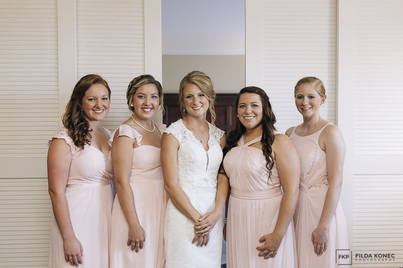 bride and girls at sheraton suites wedding
