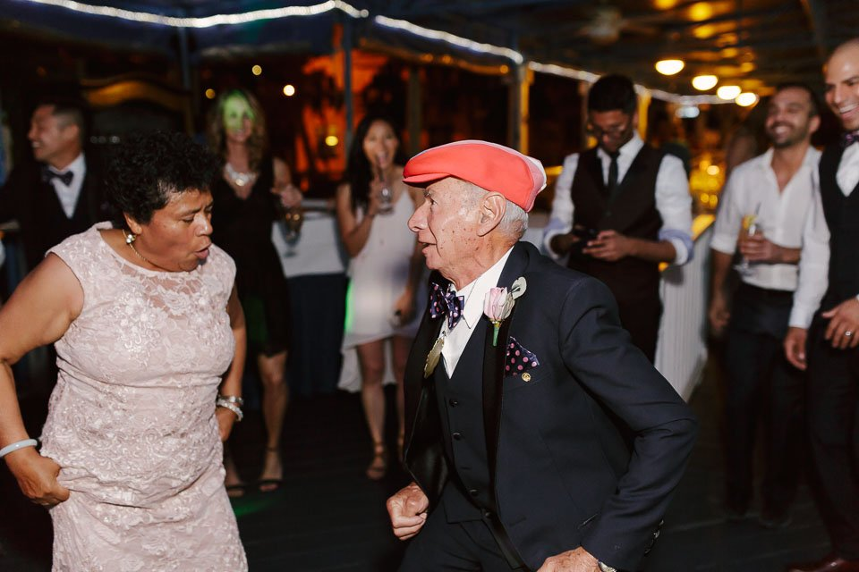 grooms parents dance at the wedding party