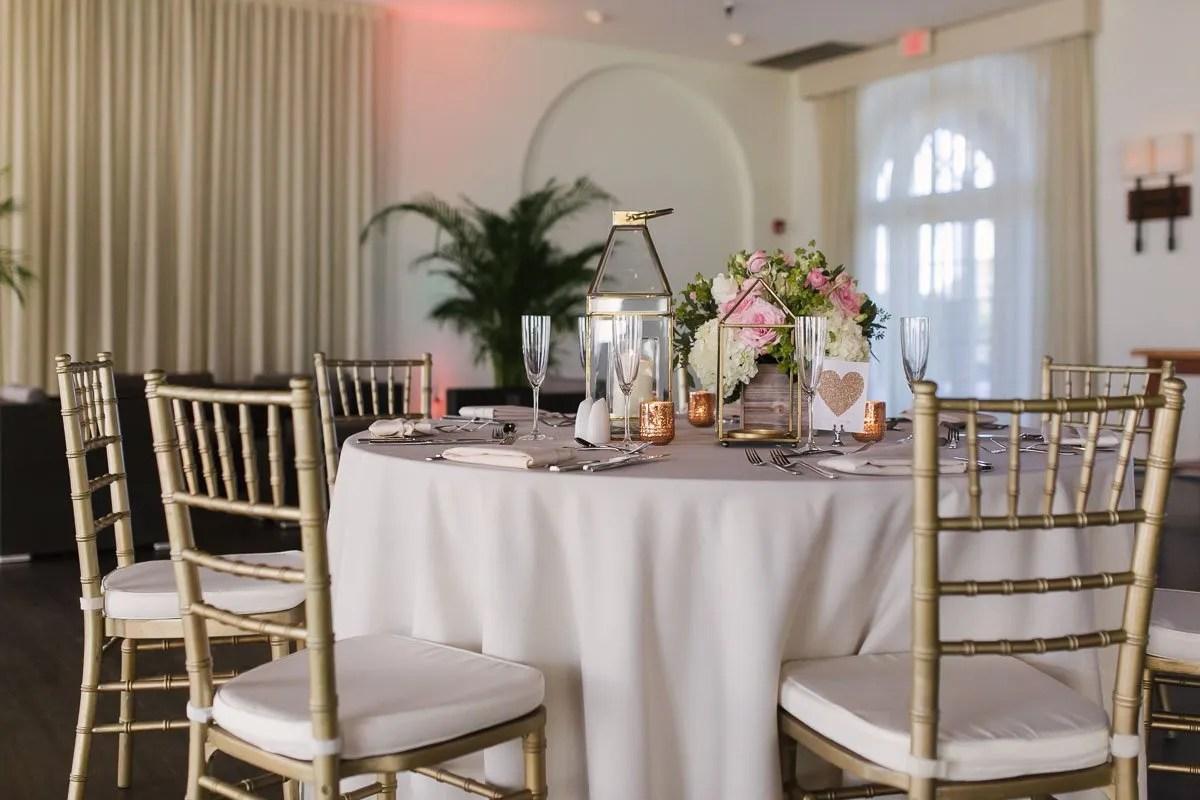 casa marina wedding table setup