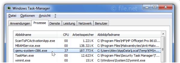 qemu-system-i386.exe Windows Prozess - Was ist das?