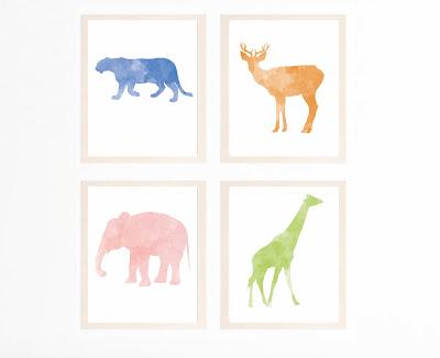 Kinderzimmer Bilder Prints Tiere Etsy
