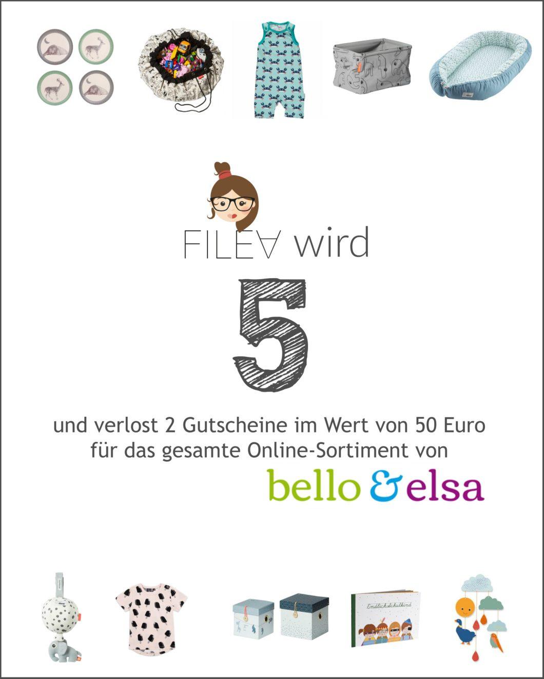 Verlosung zum 5. Bloggeburtstag mit bello&elsa
