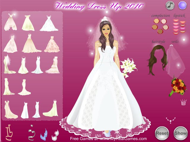Wedding Dress Up 2010 Girls Games