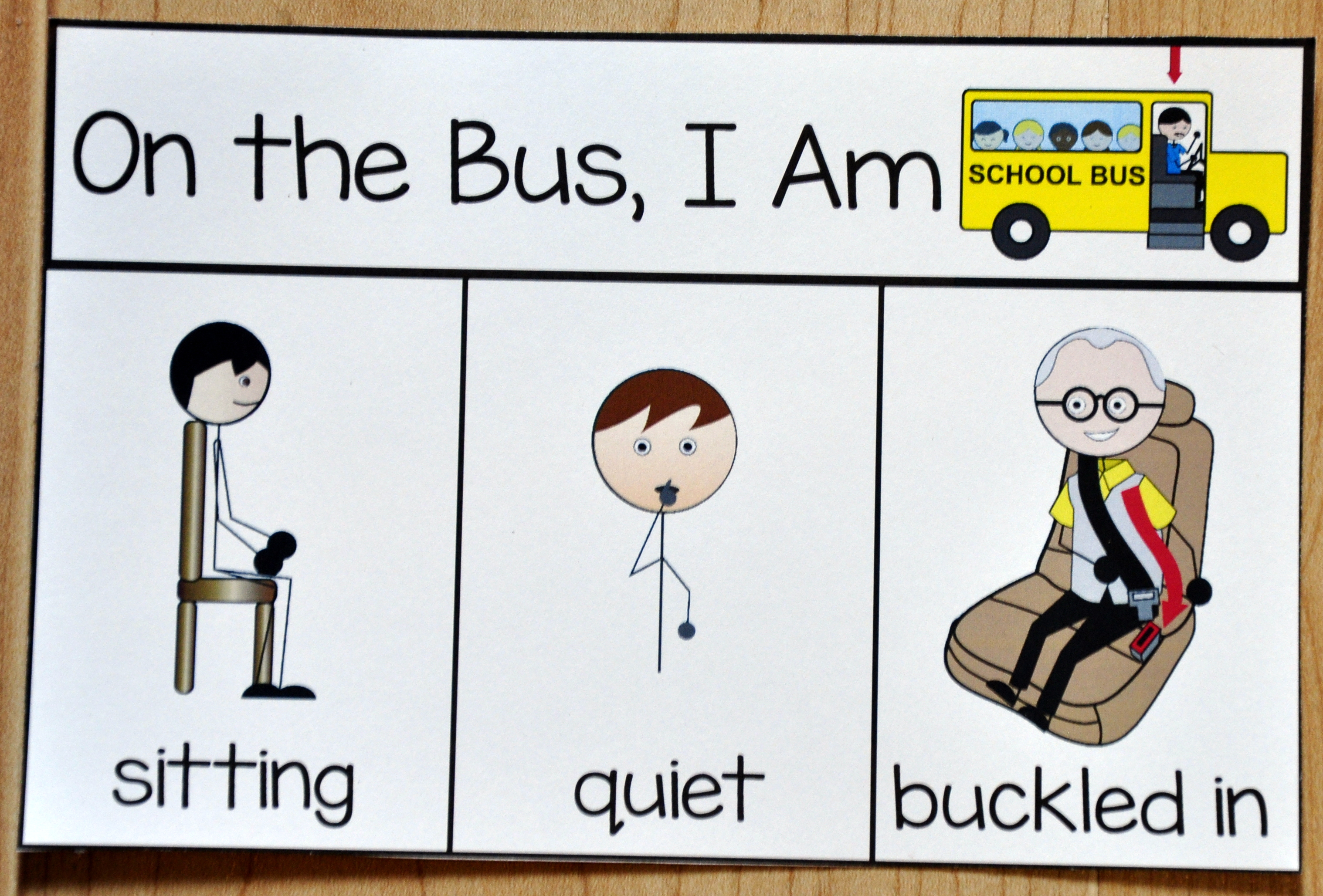 Bus Behavior Card