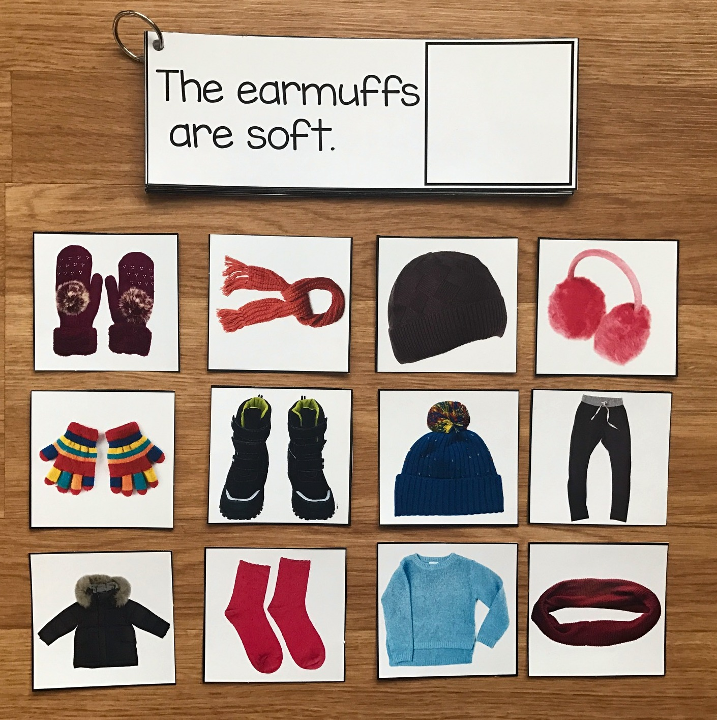 Winter Clothes Sentence Comprehension And Matching W Real Photos