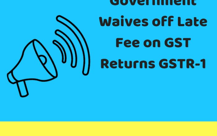 Waiver on GSTR-1