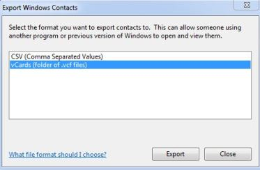 csv to vcard excel contact export