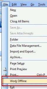 delete outbox mail in outlook