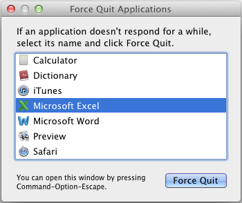 quit outlook for mac application