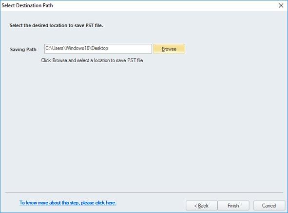 save converted pst file kernel