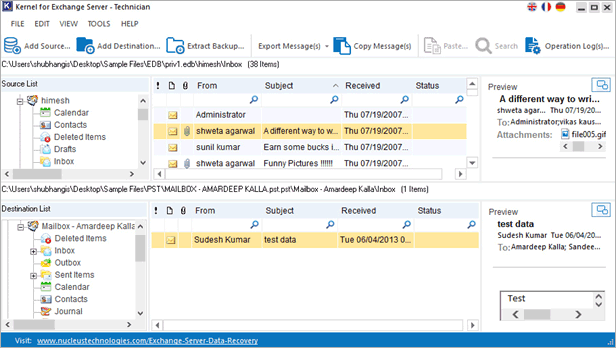save pst file from kernel edb to pst converter