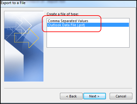 move outlook tasks as pst