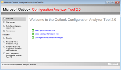 outlook configuration analyzer tool