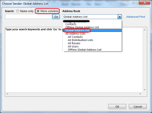 send mail from different address in outlook