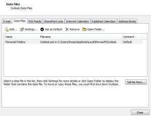 set as default pst
