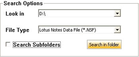find corrupt nsf file to repair in stellar lotus notes