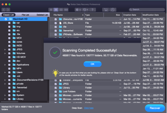 preview recovered files in mac stellar