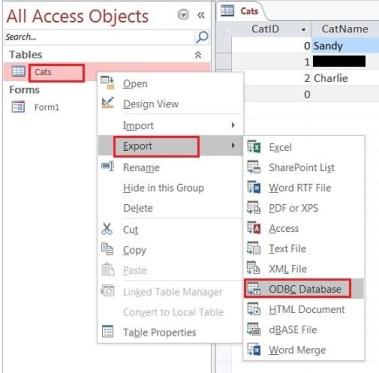 ms access to mySQL