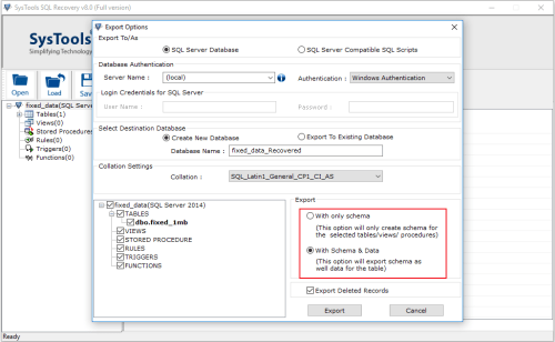 systools sql recovery mdf