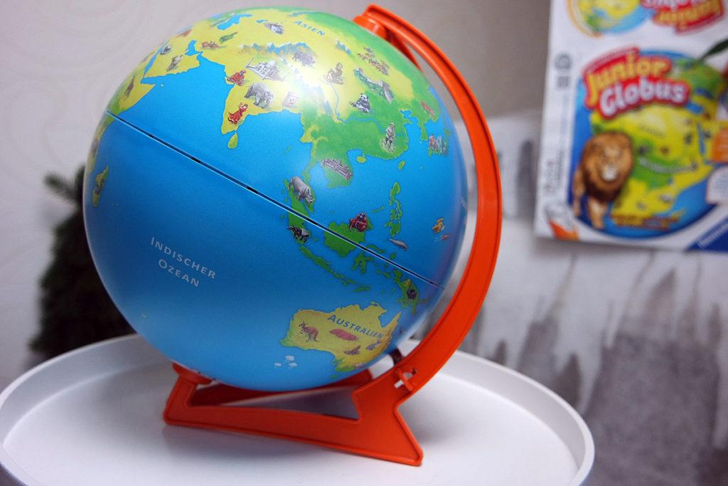 Interaktiv mit dem tiptoi Junior Globus um die Welt, Geschenktipp