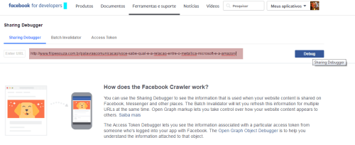 Como limpar o cache de URL no Facebook