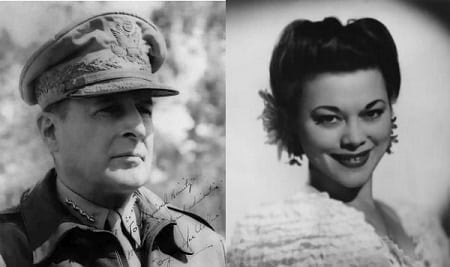 General Douglas MacArthur and Dimples Cooper love affair