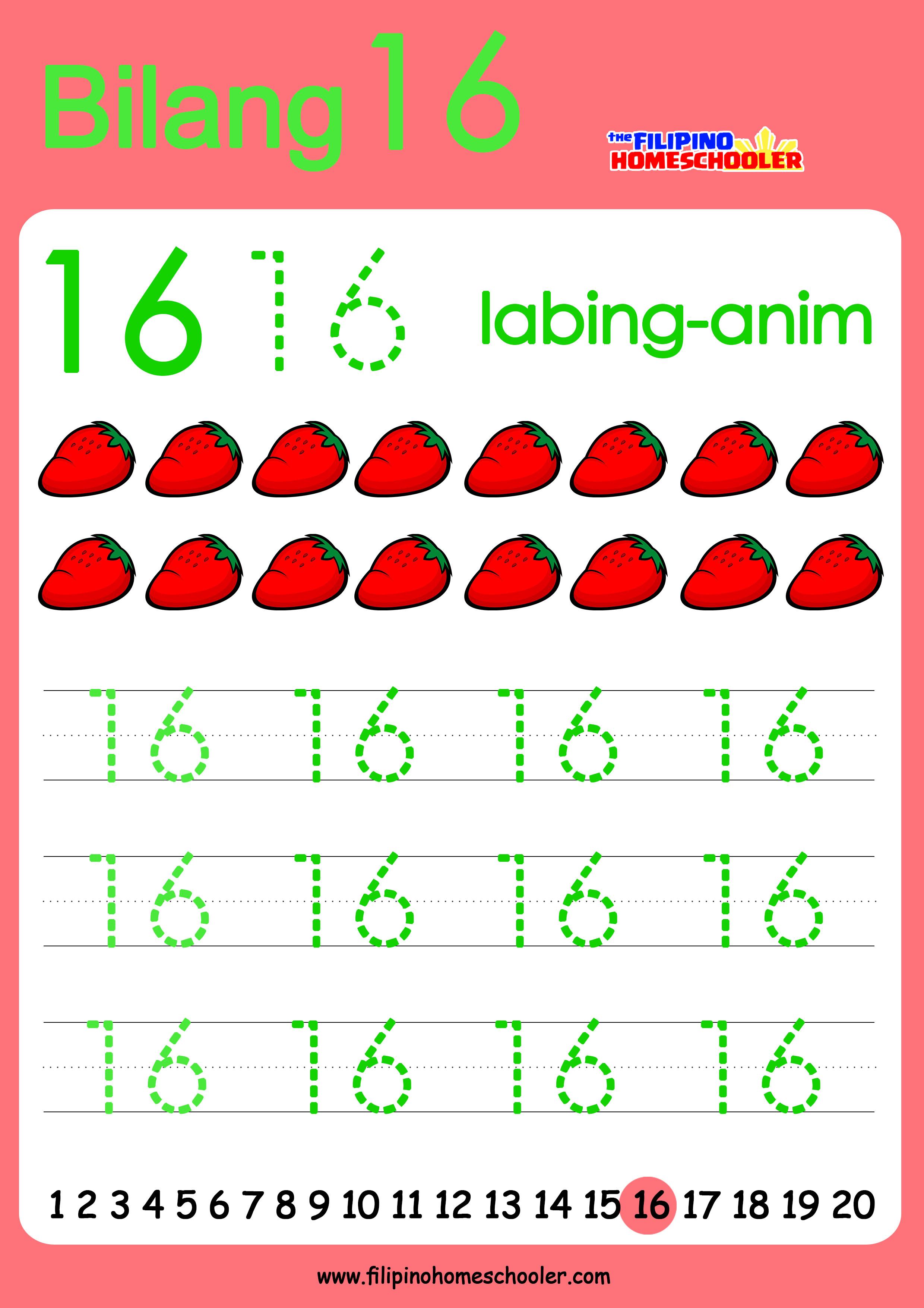 Free Filipino Numbers Worksheets From 11 20 The Filipino Homeschooler