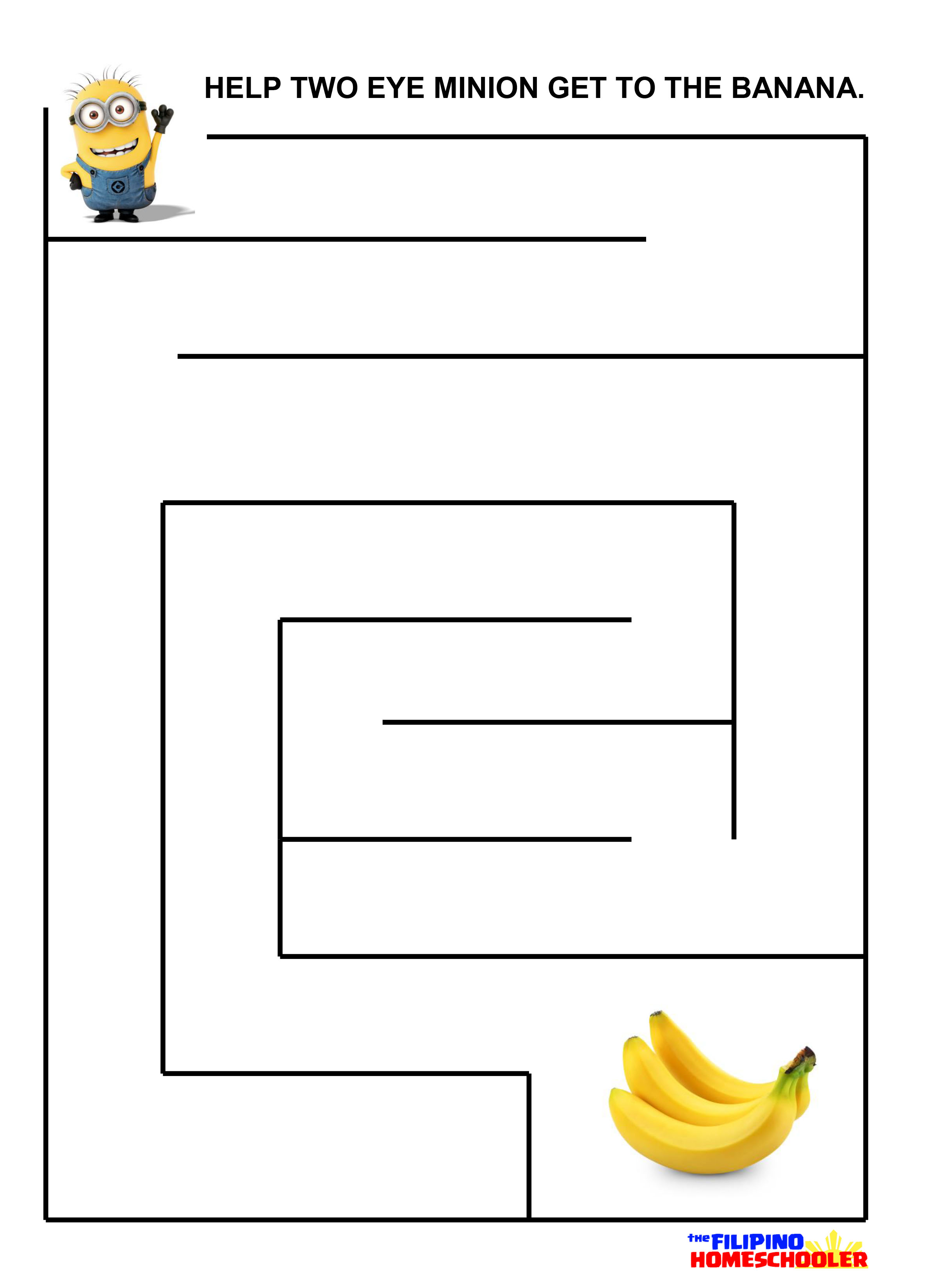 Minion Activity Worksheet
