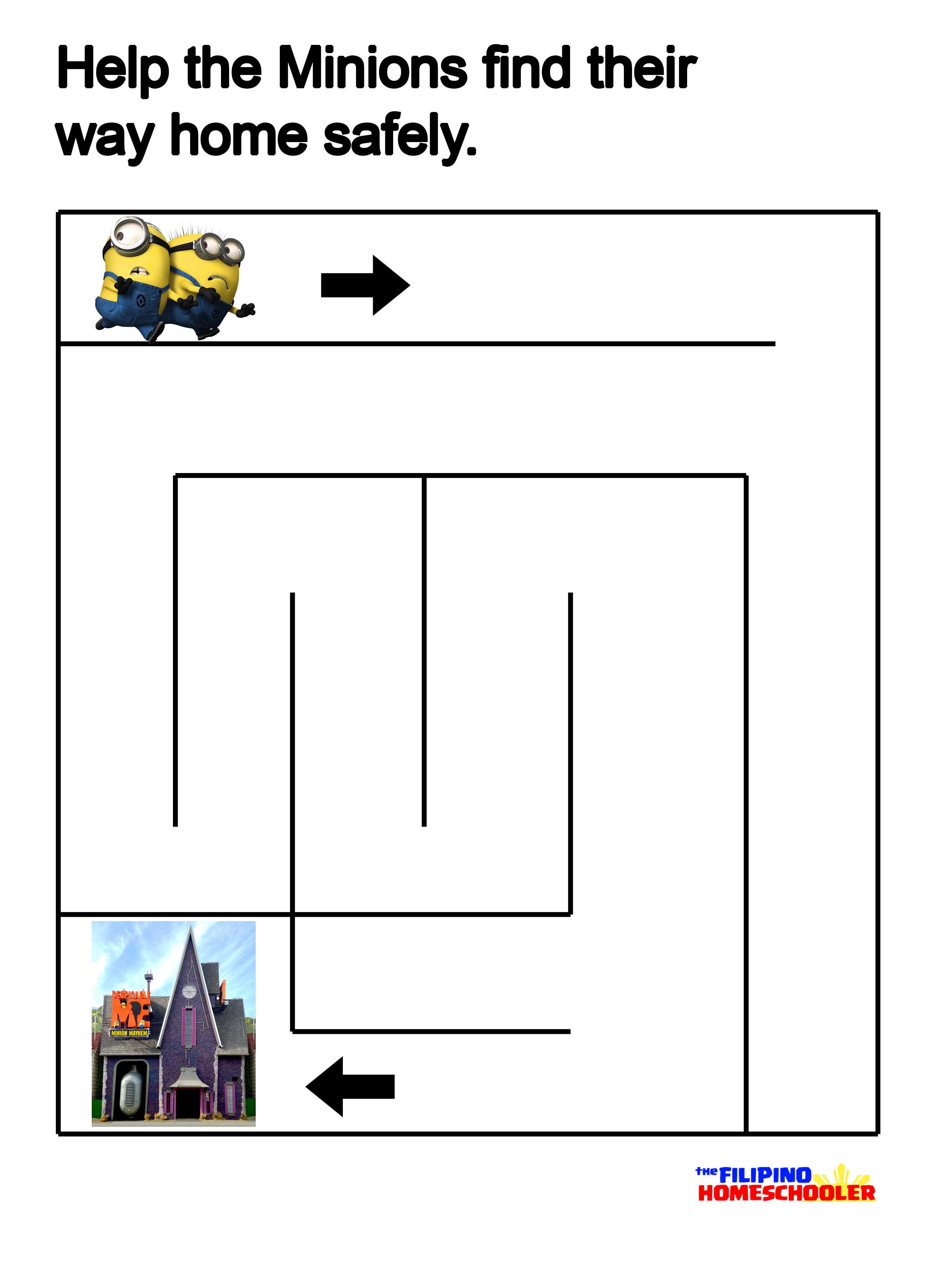 Vase Preschool Maze Worksheet