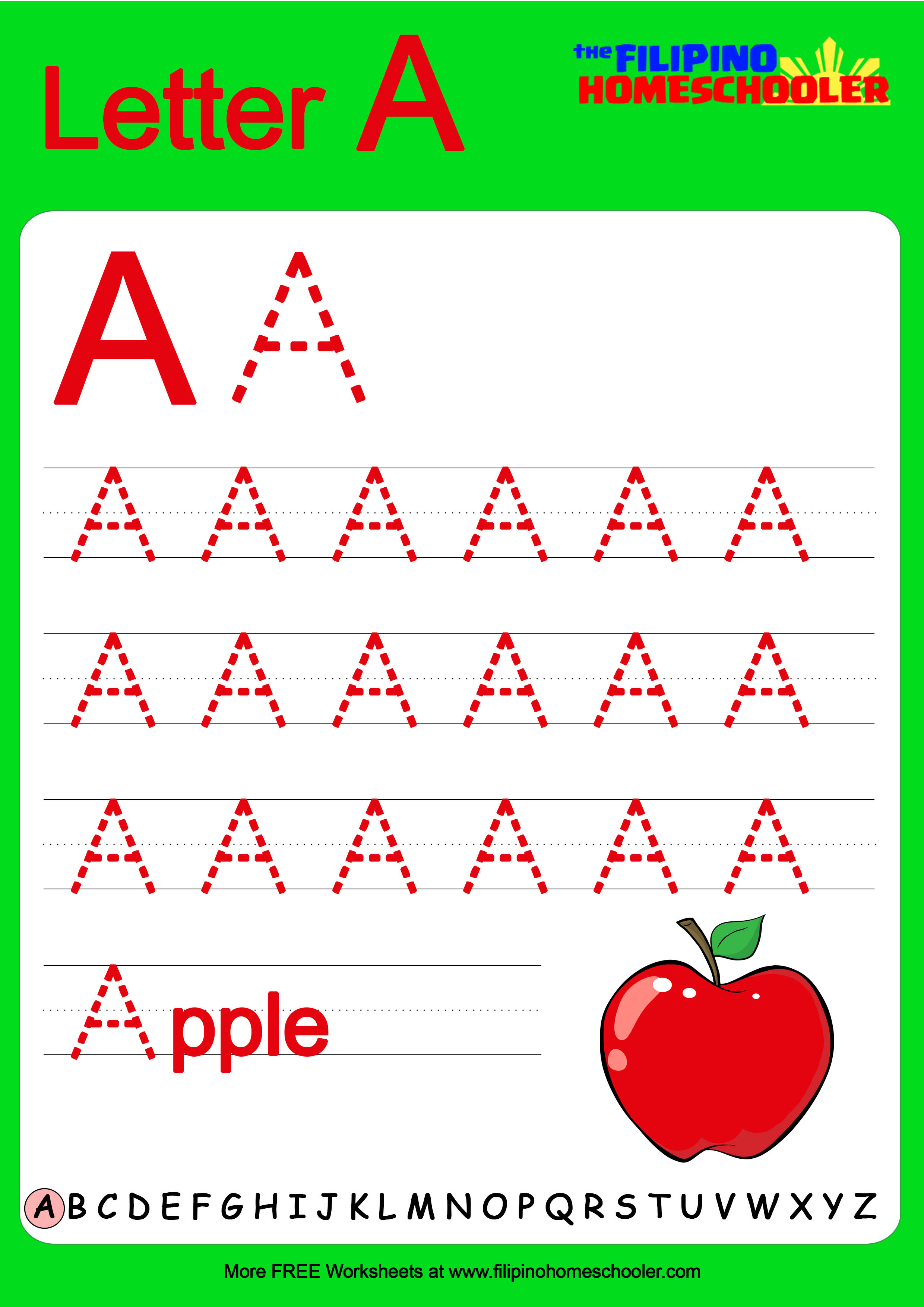 Free Uppercase Letter Tracing Worksheets The Filipino
