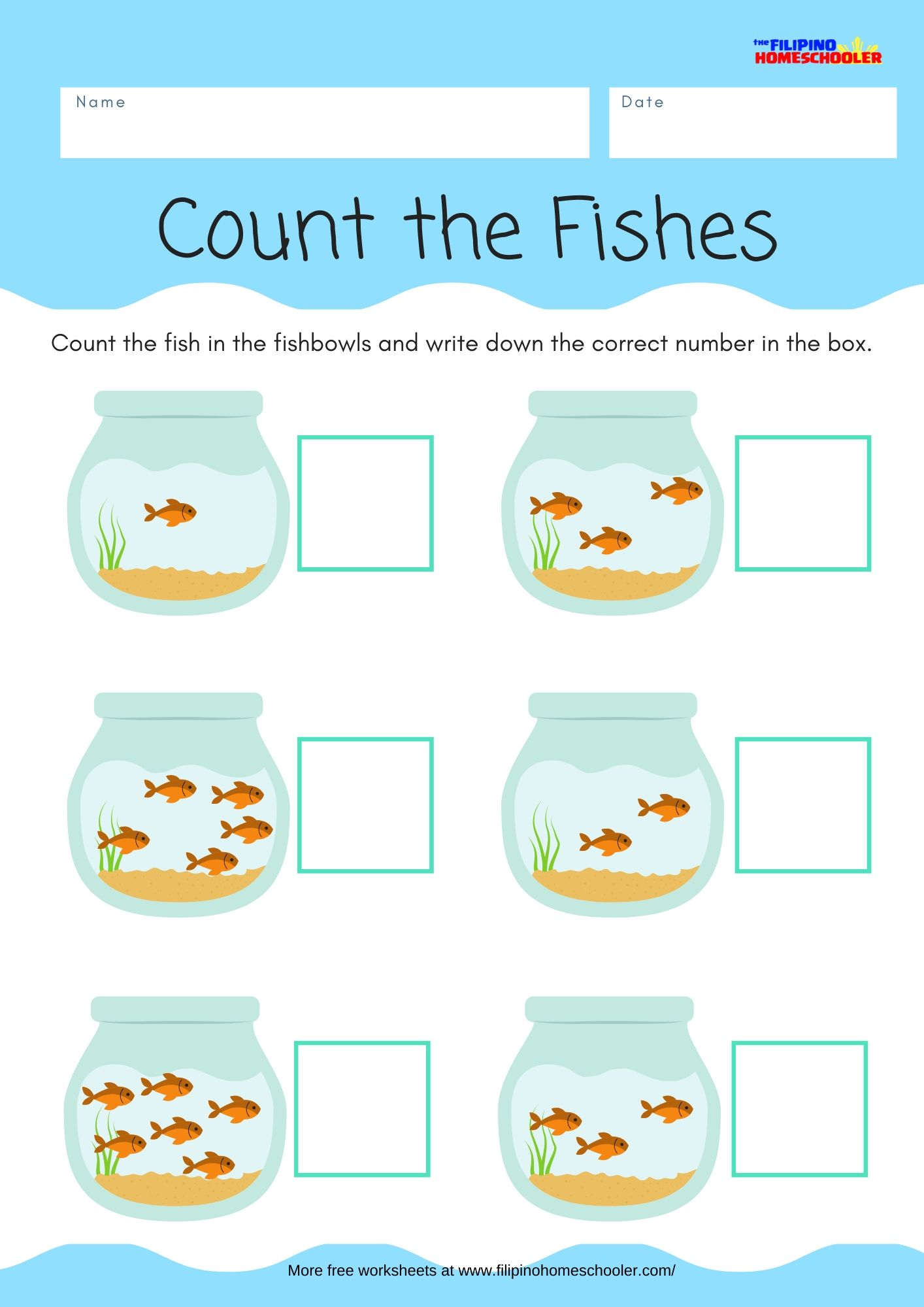 Math Counting Worksheet