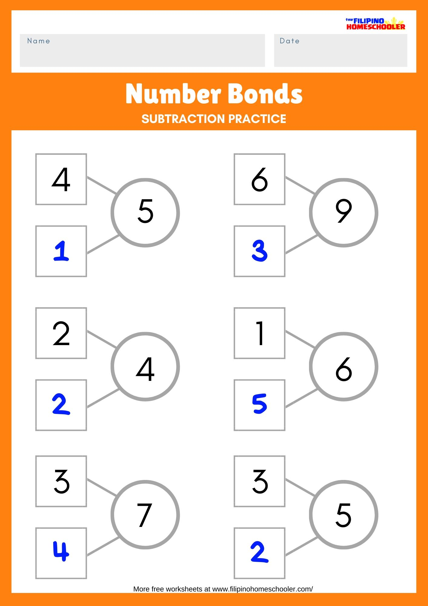 How To Teach Subtraction Using Number Bonds