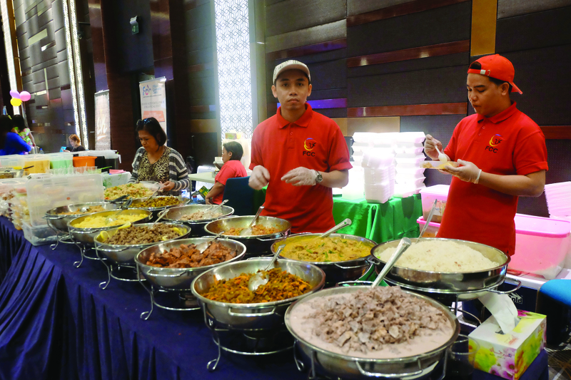 Over 6,000 visit Filipino food festival. A medley of mouth-watering Filipino cuisine on offer at the festival at Westin Doha Hotel and Spa yesterday.