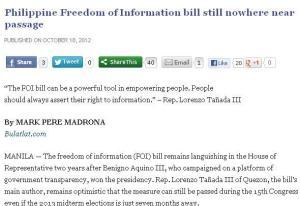 freedom of information bill - bulatlat