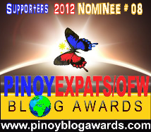 Nominee, 2012 Pinoy Expats/OFW Blog Awards
