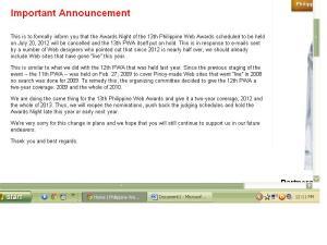 philippine web awards 2012