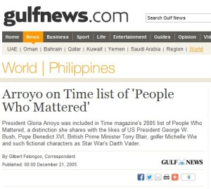 gloria arroyo - time magazine